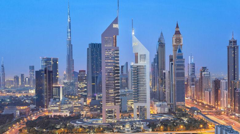 "Jumeirah Emirates Towers Exterior. Images powered by <a href=""http://www.leonardo.com"" target=""_blank"" rel=""noopener"">Leonardo</a>."