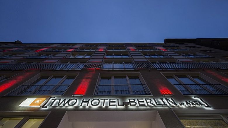 """TWO Hotel Berlin by Axel Exterior. Images powered by <a href=""""http://www.leonardo.com"""" target=""""_blank"""" rel=""""noopener"""">Leonardo</a>."""