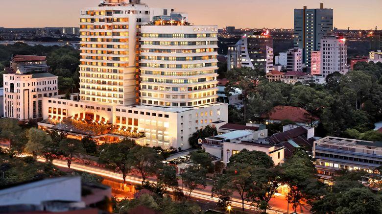 """Sofitel Saigon Plaza Exterior. Images powered by <a href=""""http://www.leonardo.com"""" target=""""_blank"""" rel=""""noopener"""">Leonardo</a>."""