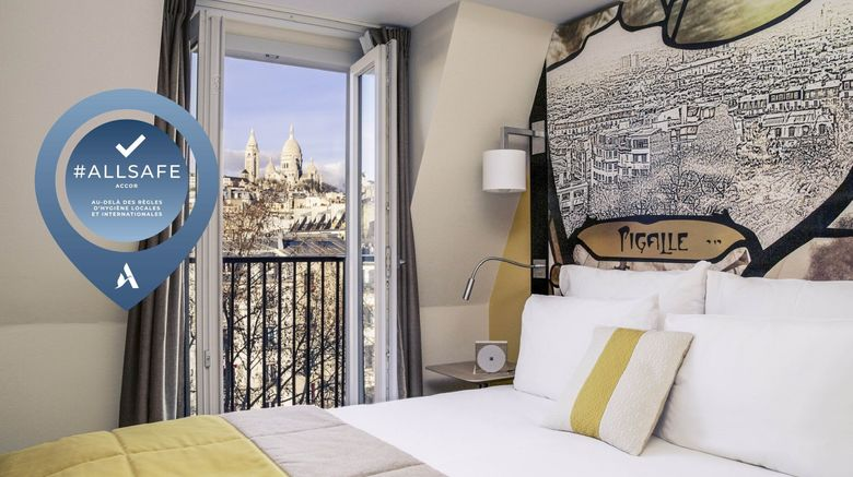 "Mercure Paris Pigalle Sacre Coeur Exterior. Images powered by <a href=""http://www.leonardo.com"" target=""_blank"" rel=""noopener"">Leonardo</a>."