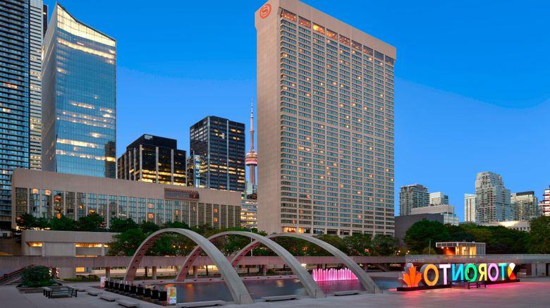 """Sheraton Centre Toronto Hotel Exterior. Images powered by <a href=""""http://www.leonardo.com"""" target=""""_blank"""" rel=""""noopener"""">Leonardo</a>."""