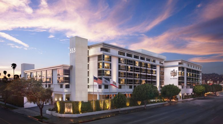 """SLS Beverly Hills, Luxury Collection Exterior. Images powered by <a href=""""http://www.leonardo.com"""" target=""""_blank"""" rel=""""noopener"""">Leonardo</a>."""