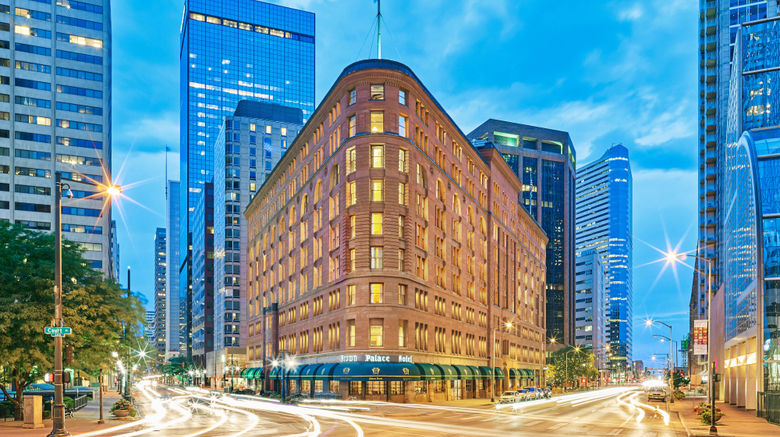 """Brown Palace Hotel  and  Spa, Autograph Coll Exterior. Images powered by <a href=""""http://www.leonardo.com"""" target=""""_blank"""" rel=""""noopener"""">Leonardo</a>."""