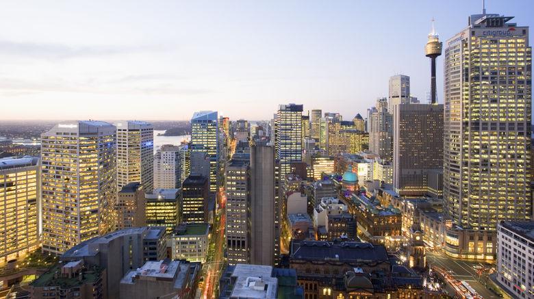 """Fraser Suites Sydney Exterior. Images powered by <a href=""""http://www.leonardo.com"""" target=""""_blank"""" rel=""""noopener"""">Leonardo</a>."""