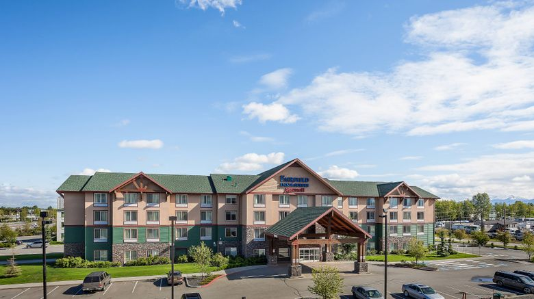 """Fairfield Inn  and  Suites Anchorage Exterior. Images powered by <a href=""""http://www.leonardo.com"""" target=""""_blank"""" rel=""""noopener"""">Leonardo</a>."""