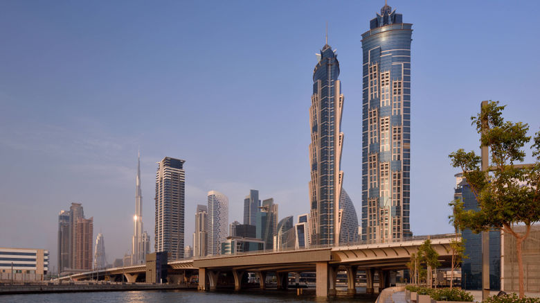 "JW Marriott Marquis Hotel Dubai Exterior. Images powered by <a href=""http://www.leonardo.com"" target=""_blank"" rel=""noopener"">Leonardo</a>."