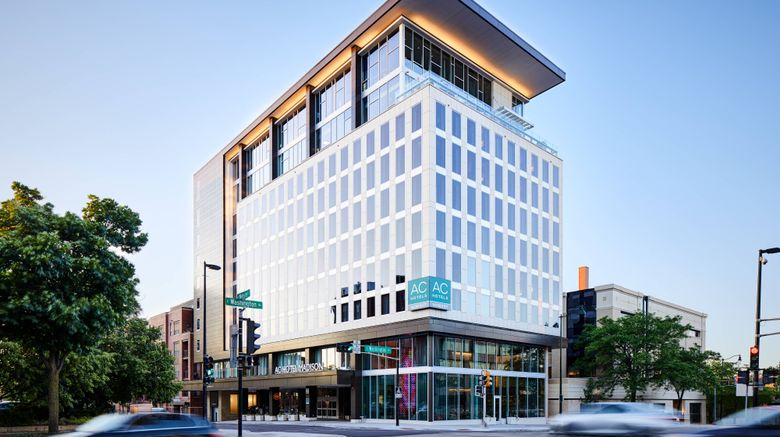 """AC Hotel by Marriott Madison Downtown Exterior. Images powered by <a href=""""http://www.leonardo.com"""" target=""""_blank"""" rel=""""noopener"""">Leonardo</a>."""