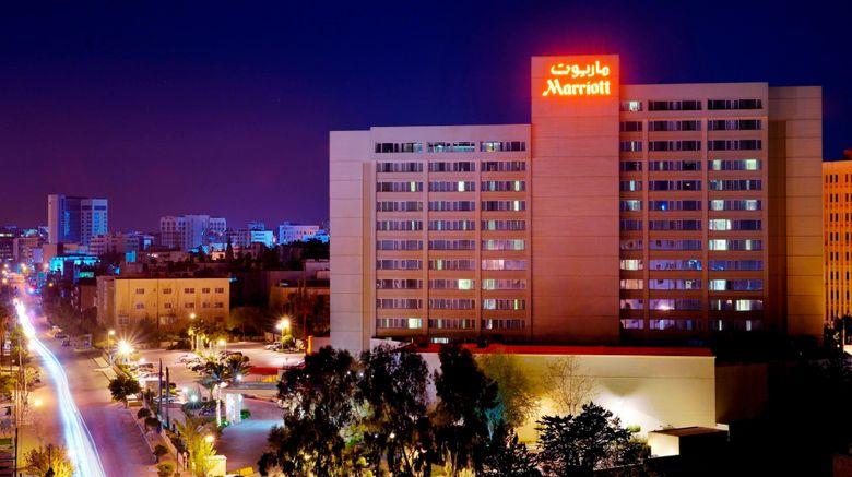 "Amman Marriott Hotel Exterior. Images powered by <a href=""http://www.leonardo.com"" target=""_blank"" rel=""noopener"">Leonardo</a>."