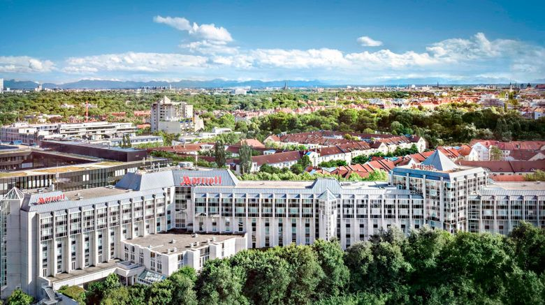 "Munich Marriott Hotel Exterior. Images powered by <a href=""http://www.leonardo.com"" target=""_blank"" rel=""noopener"">Leonardo</a>."