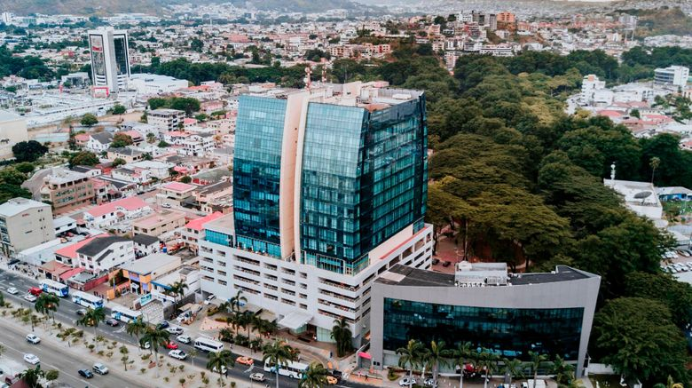 """Courtyard by Marriott Guayaquil Exterior. Images powered by <a href=""""http://www.leonardo.com"""" target=""""_blank"""" rel=""""noopener"""">Leonardo</a>."""