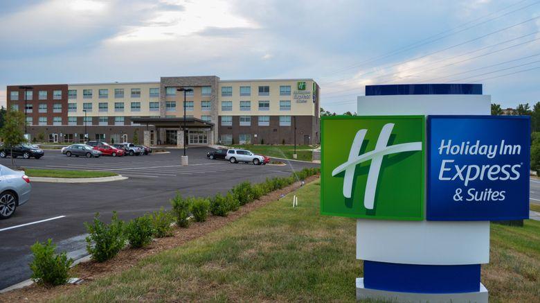 "Holiday Inn Express Raleigh Arpt Brier Exterior. Images powered by <a href=""http://www.leonardo.com"" target=""_blank"" rel=""noopener"">Leonardo</a>."