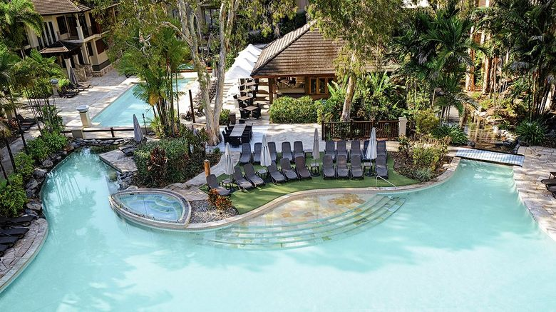 "Pullman Palm Cove Sea Temple Resort/Spa Exterior. Images powered by <a href=""http://www.leonardo.com"" target=""_blank"" rel=""noopener"">Leonardo</a>."