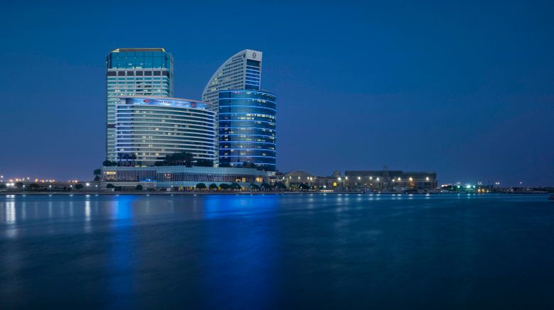 """Crowne Plaza Dubai-Festival City Exterior. Images powered by <a href=""""http://www.leonardo.com"""" target=""""_blank"""" rel=""""noopener"""">Leonardo</a>."""