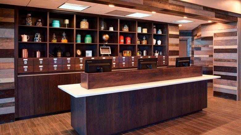 "Four Points by Sheraton Detroit Novi Lobby. Images powered by <a href=""http://www.leonardo.com"" target=""_blank"" rel=""noopener"">Leonardo</a>."