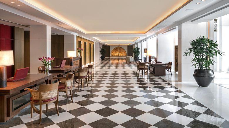 "The Oberoi New Delhi Lobby. Images powered by <a href=""http://www.leonardo.com"" target=""_blank"" rel=""noopener"">Leonardo</a>."
