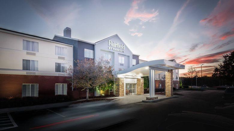 """Fairfield Inn Charlotte Northlake Exterior. Images powered by <a href=""""http://www.leonardo.com"""" target=""""_blank"""" rel=""""noopener"""">Leonardo</a>."""