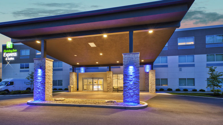 """Holiday Inn Express  and  Suites New Castle Exterior. Images powered by <a href=""""http://www.leonardo.com"""" target=""""_blank"""" rel=""""noopener"""">Leonardo</a>."""