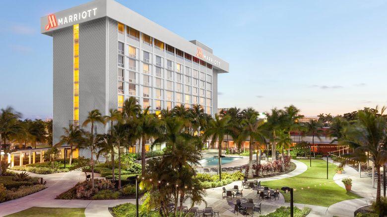 "Miami Airport Marriott Exterior. Images powered by <a href=""http://www.leonardo.com"" target=""_blank"" rel=""noopener"">Leonardo</a>."