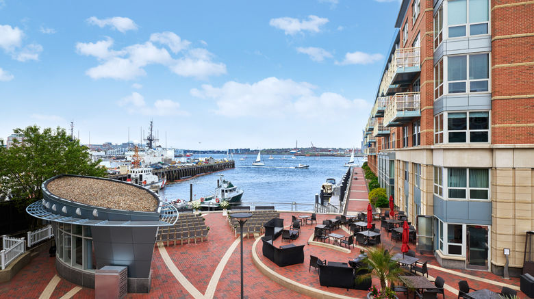 "Battery Wharf Hotel, Boston Waterfront Exterior. Images powered by <a href=""http://www.leonardo.com"" target=""_blank"" rel=""noopener"">Leonardo</a>."