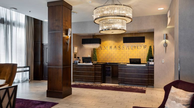 "Ambassador Hotel Wichita Lobby. Images powered by <a href=""http://www.leonardo.com"" target=""_blank"" rel=""noopener"">Leonardo</a>."