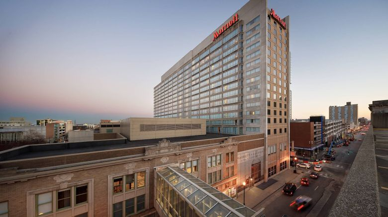 "Louisville Marriott Downtown Exterior. Images powered by <a href=""http://www.leonardo.com"" target=""_blank"" rel=""noopener"">Leonardo</a>."