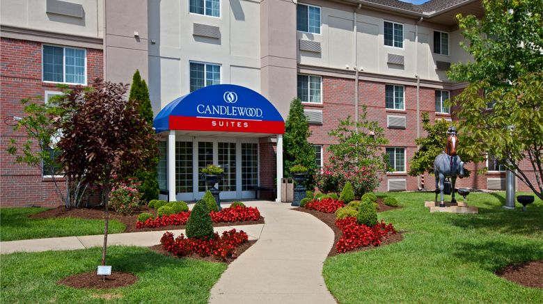 """Candlewood Suites Louisville Airport Exterior. Images powered by <a href=""""http://www.leonardo.com"""" target=""""_blank"""" rel=""""noopener"""">Leonardo</a>."""
