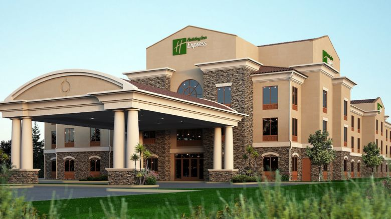 """Holiday Inn Express  and  Suites Redding Exterior. Images powered by <a href=""""http://www.leonardo.com"""" target=""""_blank"""" rel=""""noopener"""">Leonardo</a>."""