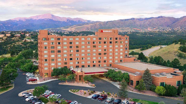 """Colorado Springs Marriott Exterior. Images powered by <a href=""""http://www.leonardo.com"""" target=""""_blank"""" rel=""""noopener"""">Leonardo</a>."""