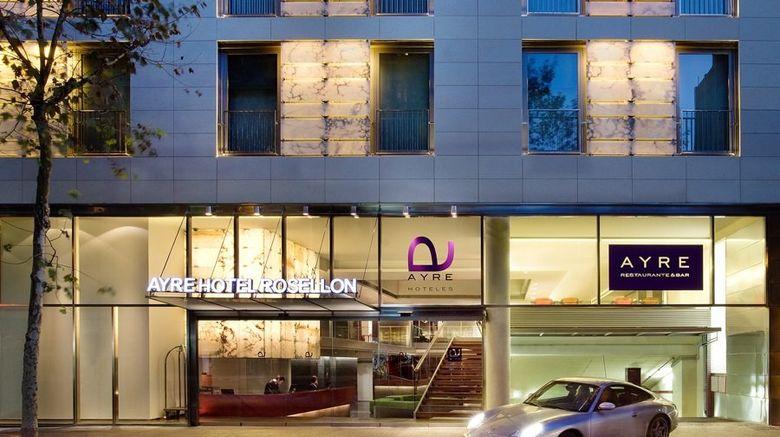 "Ayre Hotel Rosellon Exterior. Images powered by <a href=""http://www.leonardo.com"" target=""_blank"" rel=""noopener"">Leonardo</a>."