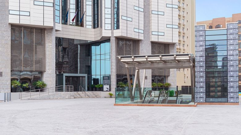 """Four Points by Sheraton Doha Exterior. Images powered by <a href=""""http://www.leonardo.com"""" target=""""_blank"""" rel=""""noopener"""">Leonardo</a>."""
