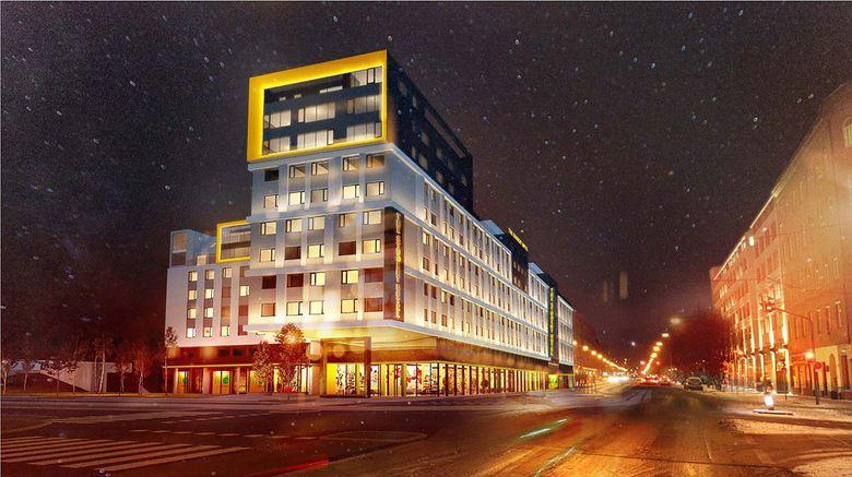 "The Student Hotel Vienna Exterior. Images powered by <a href=""http://www.leonardo.com"" target=""_blank"" rel=""noopener"">Leonardo</a>."