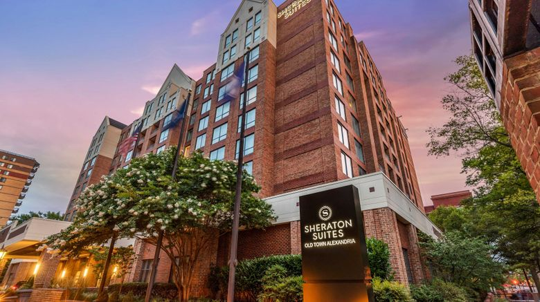 """Sheraton Suites Old Town Alexandria Exterior. Images powered by <a href=""""http://www.leonardo.com"""" target=""""_blank"""" rel=""""noopener"""">Leonardo</a>."""