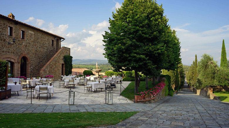 "Castello Banfi-Il Borgo Exterior. Images powered by <a href=""http://www.leonardo.com"" target=""_blank"" rel=""noopener"">Leonardo</a>."
