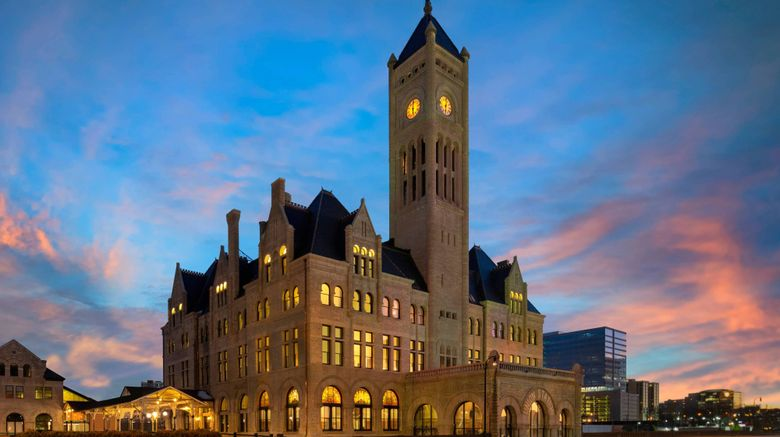 """Union Station Hotel Autograph Collection Exterior. Images powered by <a href=""""http://www.leonardo.com"""" target=""""_blank"""" rel=""""noopener"""">Leonardo</a>."""