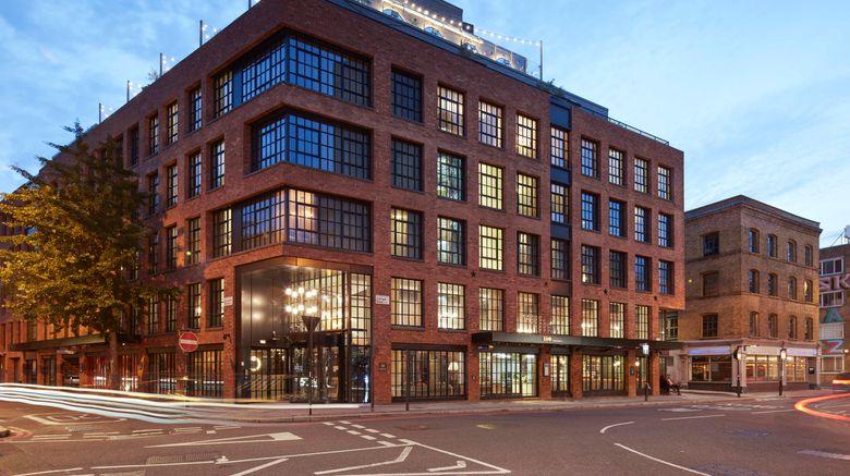 """Mondrian Shoreditch Exterior. Images powered by <a href=""""http://www.leonardo.com"""" target=""""_blank"""" rel=""""noopener"""">Leonardo</a>."""