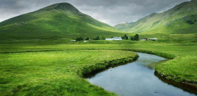 Glen Cluanie in the Scottish Highlands