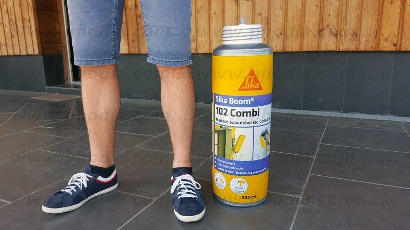 aerosol sika boom de 60cm gonflable avec fond rigide pour posé sur présentoir
