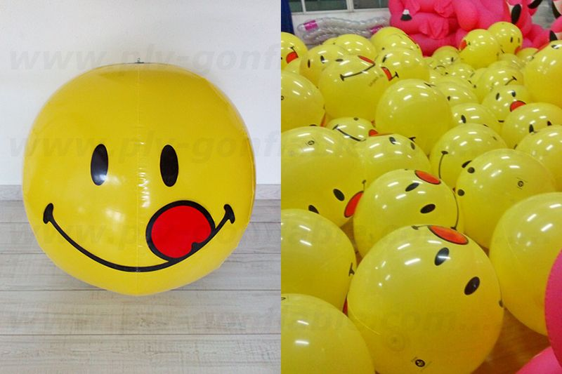 ballon smiley géant qui tire la langue de 30cm en plv