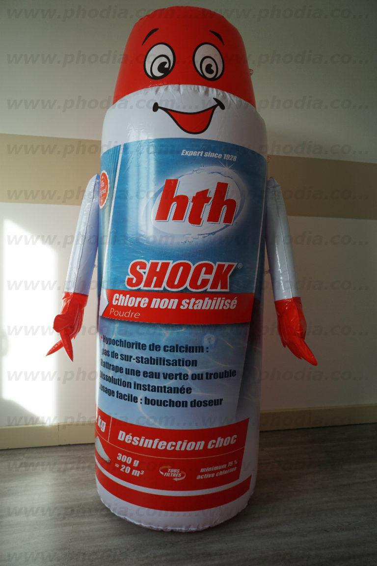 plv shock géante en forme de bonhomme gonflable pour magasin de bricolage