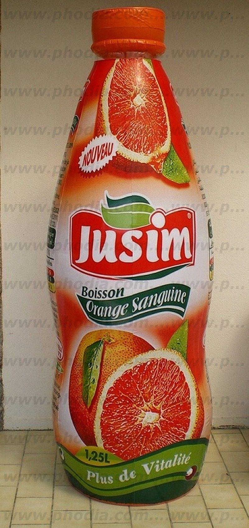 Boisson orange sanguine publicitaire pour promotion des ventes