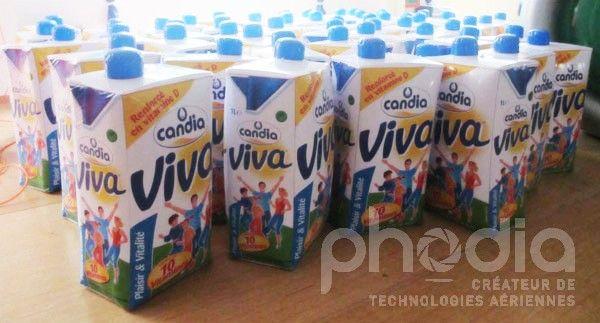 brique de lait candia vivo en pvc gonflable