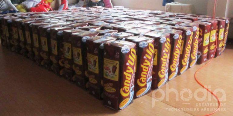 briques candy up 130 exemplaires, plv gonflable pour promotion marque de lait