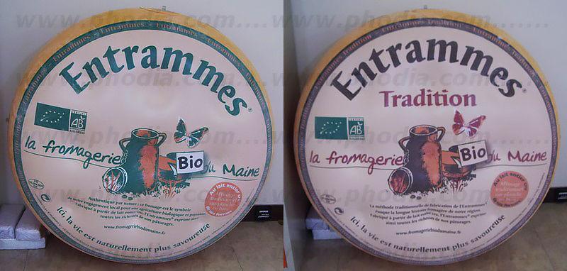 Fromage entrammes bio tradition en gonflable de 1 m de diamètre