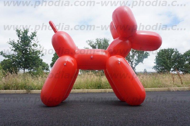 chien ballon géant de 2.5m, plv pour promotion magasin