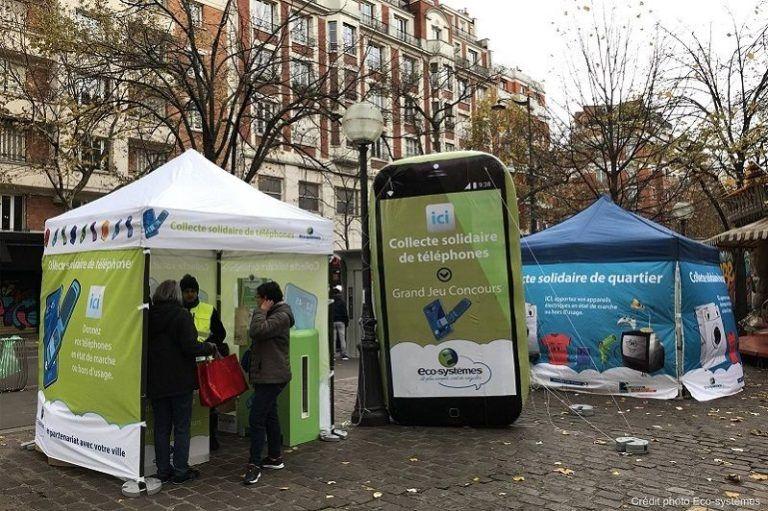 Téléphone gonflable pour puplicité pour recyclage eco-systèmes