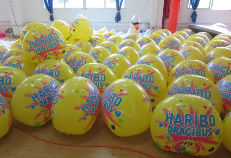 haribo dragibus p!k gonflable de 50cm publicité en quantité
