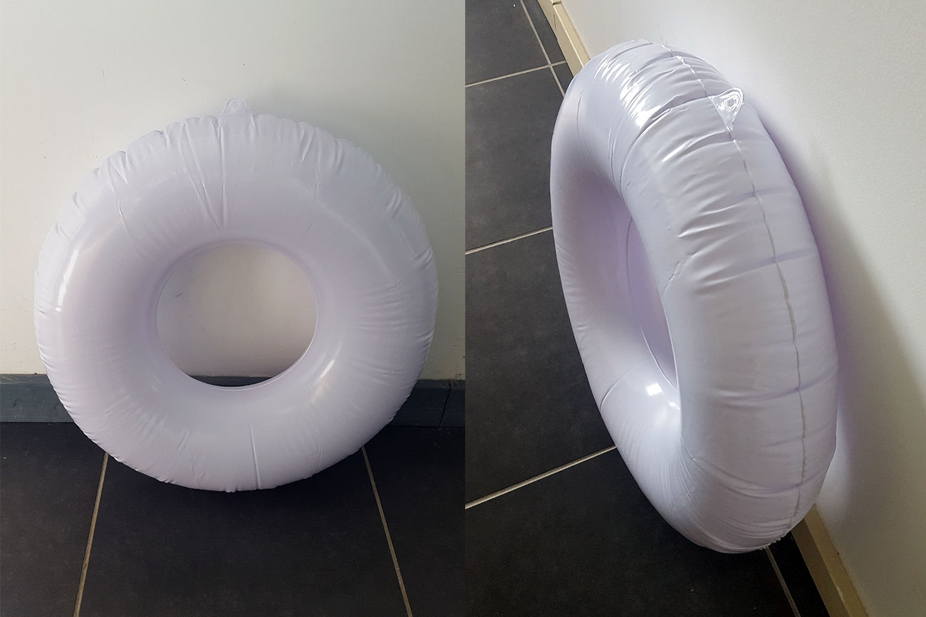 bouée gonflable pvc sur mesure pour artiste, fabrication d'un cheval
