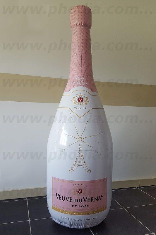 Bouteille gonflable champagne veuve du vernay 1m80