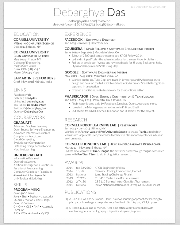 Deedy Resume Cover Letter Free Projects