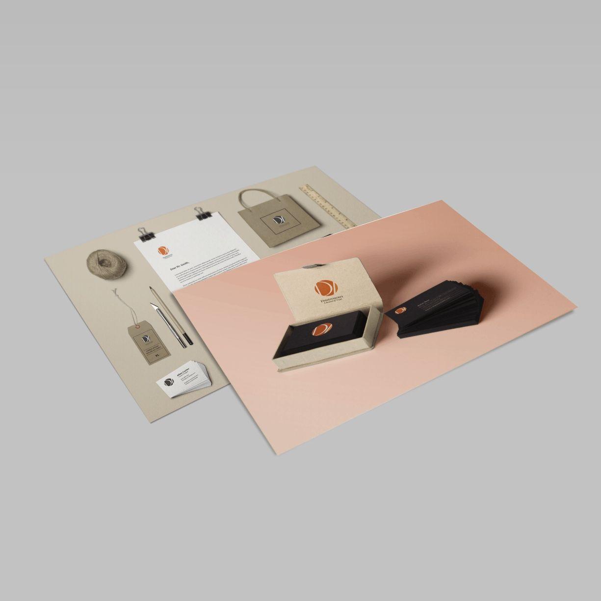 Dimensions Interior Letterhead Design by ArtOwls